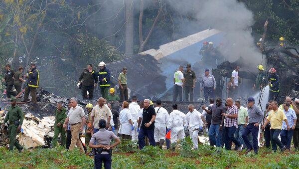 На месте крушения самолета Boeing 737 авиакомпании Cubana de Aviacion, Куба, Гавана 18 мая 2018 года - Sputnik Ўзбекистон