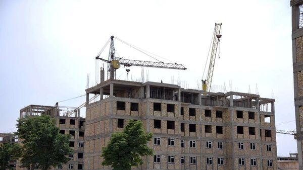 Строительство многоквартирных жилых домов в Андижанской области - Sputnik Узбекистан