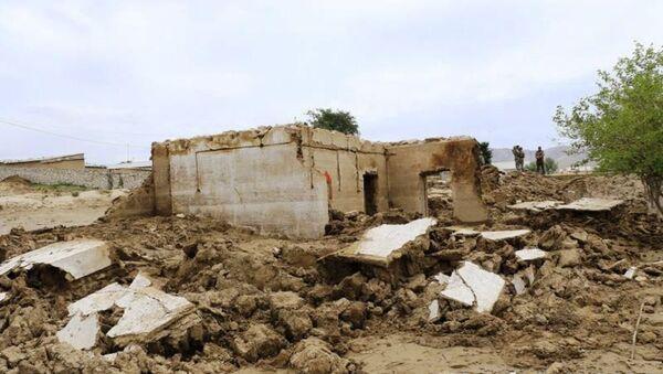 Последствия селевого потока в Нурабадском районе Самаркандской области - Sputnik Ўзбекистон