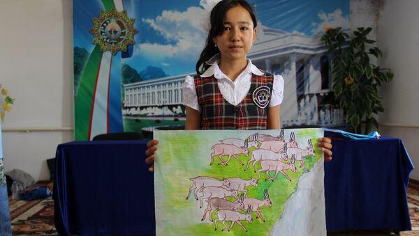 Дети приняли участие в конкурсе на тему «И жизнью задышит Арал и Устюрт» - Sputnik Узбекистан
