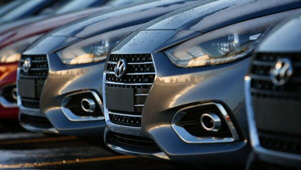 Производство обновленного Hyundai Solaris в Ленинградской области - Sputnik Ўзбекистон