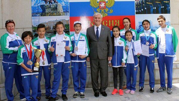 Встреча с участниками IV Всемирных игр юных соотечественников в Ташкенте - Sputnik Узбекистан