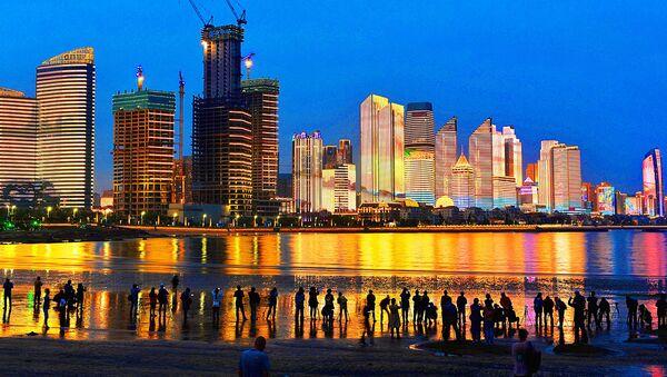 Небоскребы в городе Циндао, Китайская Народная Республика - Sputnik Ўзбекистон