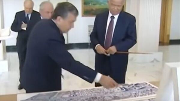 Islam Karimov i Shavkat Mirziyoyev - s'yemka 2016 goda - Sputnik Oʻzbekiston
