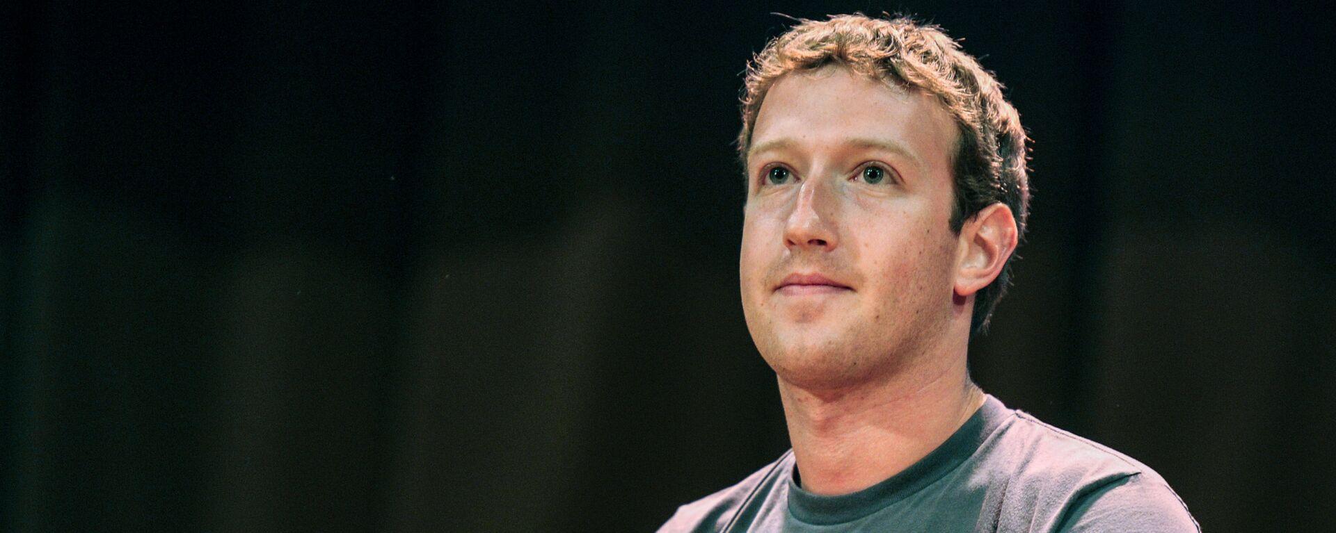 Создатель крупнейшей мировой социальной сети Facebook Марк Цукерберг - Sputnik Узбекистан, 1920, 08.10.2021