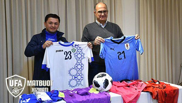 Подготовка к товарищескому матчу сборных Узбекистана и Уругвая - Sputnik Ўзбекистон