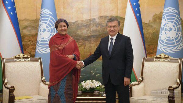 Шавкат Мирзиёев встретился с первым заместителем Генерального секретаря ООН Аминой Мохамед - Sputnik Узбекистан