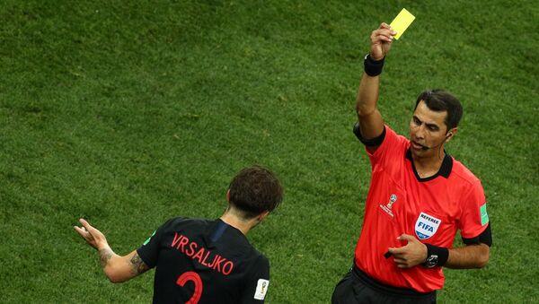Равшан Ирматов во время матча ЧМ 2018 Аргентина-Хорватия - Sputnik Ўзбекистон