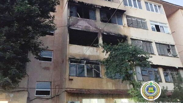 Pojar v jilom dome v Tashkente - Sputnik Oʻzbekiston