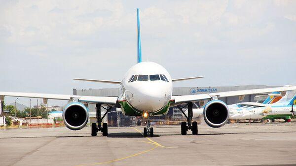 Samolet Airbus 320 Uzbekskix avialiniy - Sputnik Oʻzbekiston