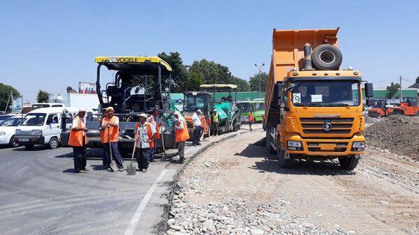 Строительство круговой дороги Рахат в г. Ташкент - Sputnik Ўзбекистон