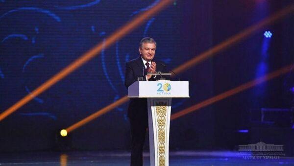 Шавкат Мирзиёев на праздновании 20-летия Астаны - Sputnik Ўзбекистон