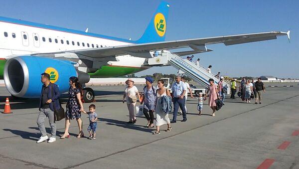 Открытие обновленного аэропорта Нукус - Sputnik Ўзбекистон