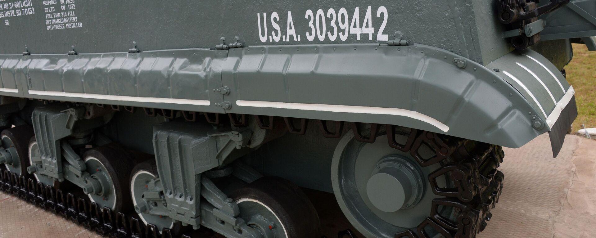 Военные в Приморье завершили восстановление танка Шерман времен Великой Отечественной войны - Sputnik Ўзбекистон, 1920, 23.09.2021