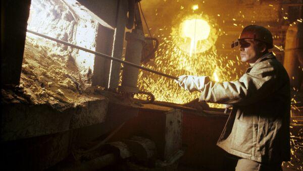 Печ на металлургическом заводе - Sputnik Узбекистан