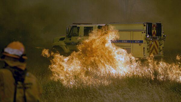 Пожары в Калифорнии, США - Sputnik Ўзбекистон