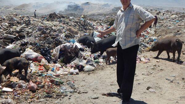 Самаркандский городской полигон твердых бытовых отходов в поселке Сулим  - Sputnik Узбекистан