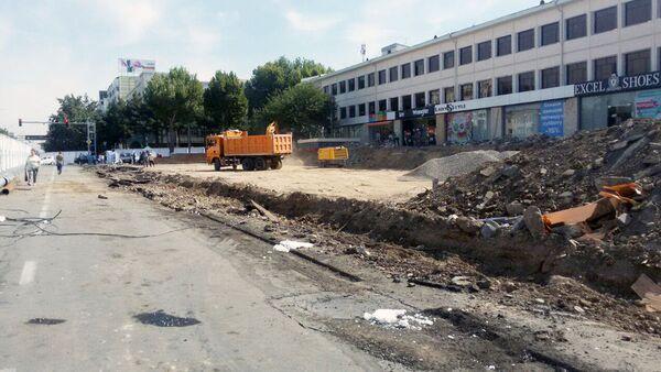 Улица Амира Тимура в Ташкенте на реконструкции - Sputnik Ўзбекистон