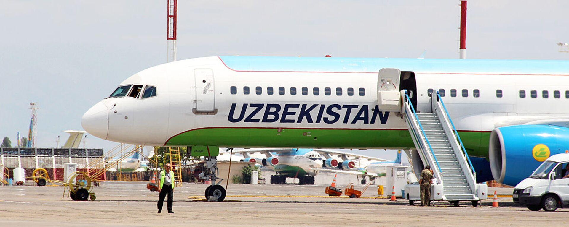 Boeing 757 uzbekskix avialiniy - Sputnik Oʻzbekiston, 1920, 30.06.2021
