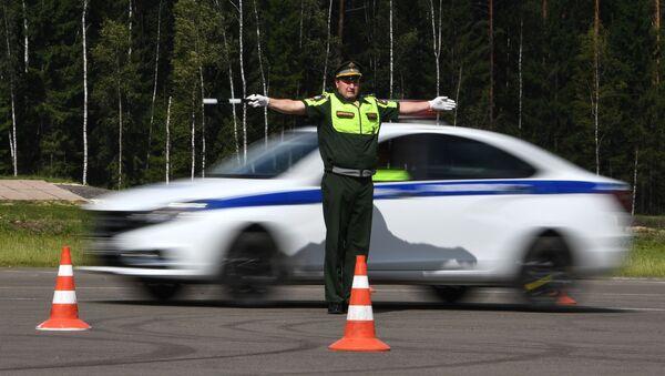 Международный этап конкурса Дорожный патруль - Sputnik Узбекистан