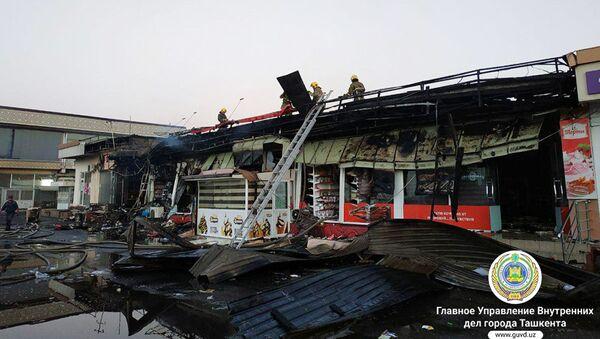 Пожар в Сергелийском районе Ташкента - Sputnik Ўзбекистон