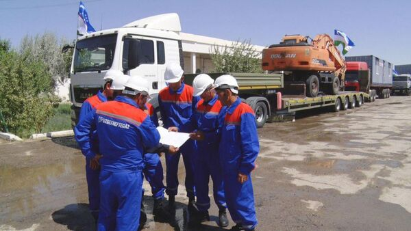 Сотрудники компании Узбекнефтегаз - Sputnik Узбекистан
