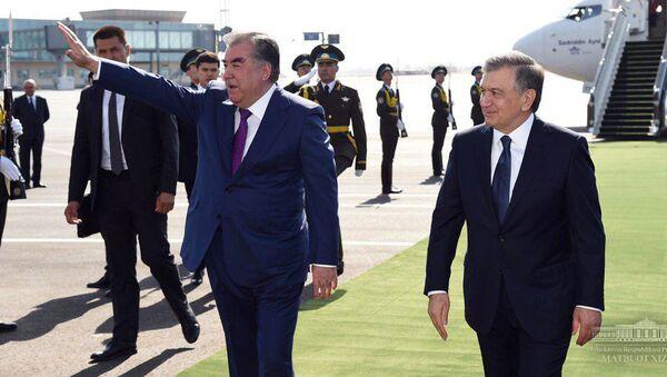 Vizit prezidenta Tadjikistana Emomali Raxmona v Uzbekistan - Sputnik Oʻzbekiston