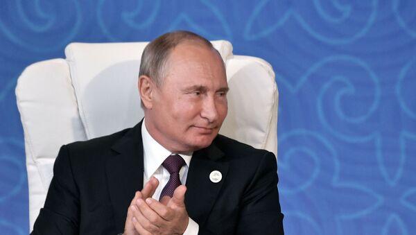 Президент РФ В. Путин принял участие в V Каспийском саммите в Актау - Sputnik Ўзбекистон
