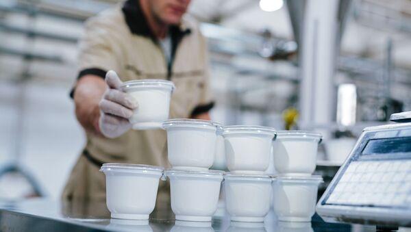 Сотрудник на производстве молочных продуктов  - Sputnik Ўзбекистон