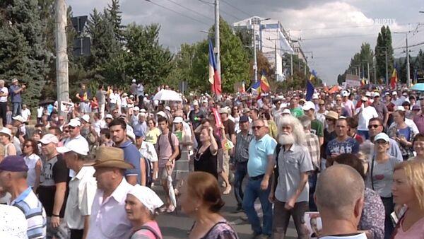 СПУТНИК_Многотысячные протесты в центре Кишинева - Sputnik Узбекистан