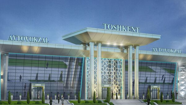 Автовокзал Ташкент - 3d модель - Sputnik Ўзбекистон