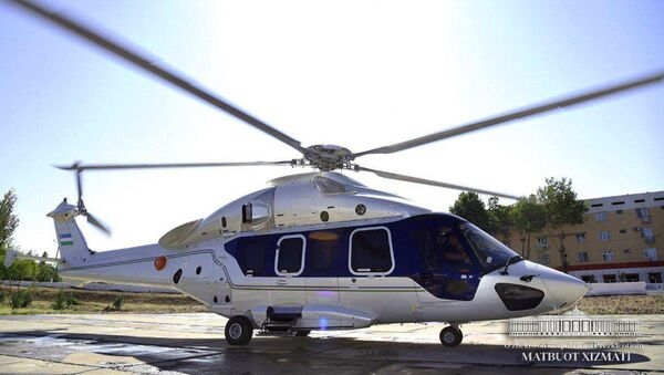 Вертолет президента Узбекистана Шавката Мирзиёева - Sputnik Ўзбекистон