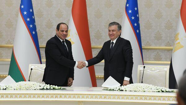 Президент Узбекистана Шавкат Мирзиёев и президент Египта Абдул-Фаттахом ас-Сиси - Sputnik Ўзбекистон