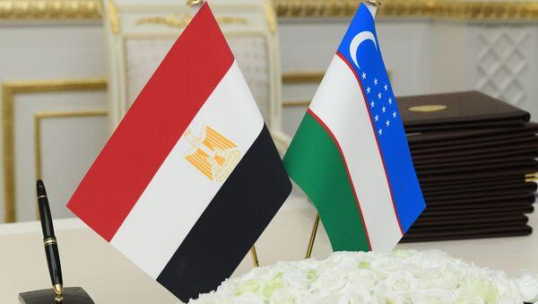 Флаги Узбекистана и Египта - Sputnik Узбекистан