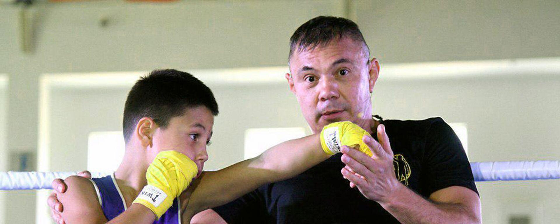 Eks-chempion mira po boksu Konstantin Tszyu provel master-klass v Tashkente - Sputnik Oʻzbekiston, 1920, 09.09.2021