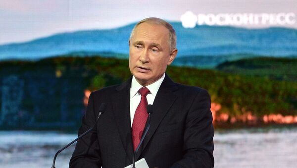 Рабочая поездка президента РФ В. Путина в Дальневосточный федеральный округ. День третий - Sputnik Узбекистан