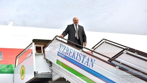 Президент Беларуси Александр Лукашенко прибыл с официальным визитом в Ташкент - Sputnik Ўзбекистон