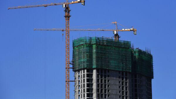 Строительство здания - Sputnik Ўзбекистон