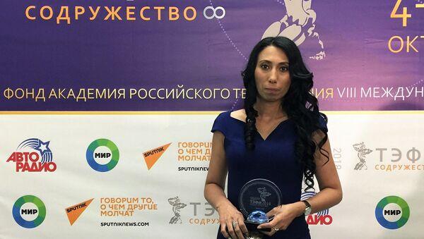 Директор кыргызской частной телевизионной студии 3B-Медиа Хадича Харсанова - Sputnik Узбекистан