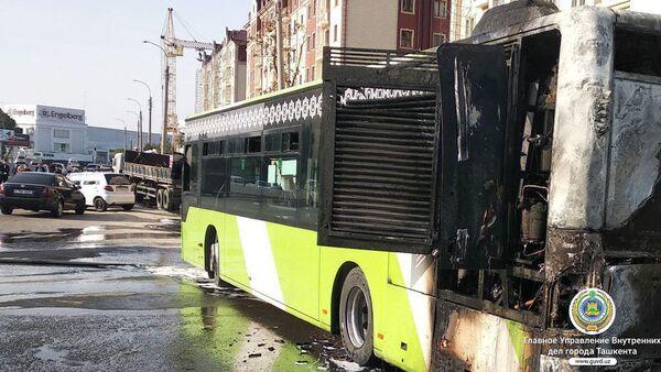 Sgorevshiy avtobus Mercedes-Benz Low Floor - Sputnik Oʻzbekiston