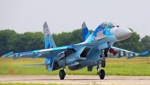 Su-27 ukrainskix VVS - Sputnik Oʻzbekiston