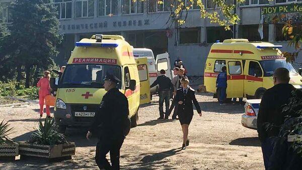 Место взрыва в Керчи - Sputnik Ўзбекистон