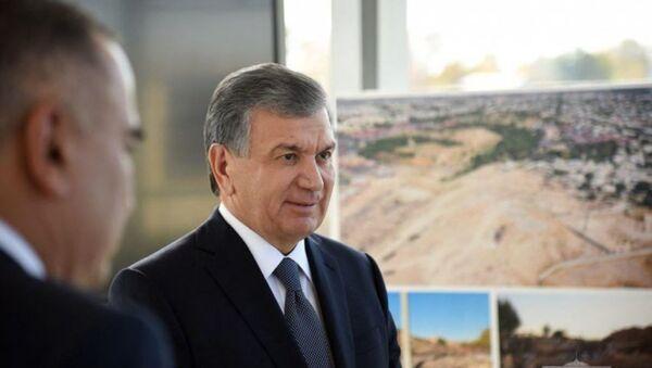 Мирзиёев проинспектировал строительство Business city - Sputnik Узбекистан