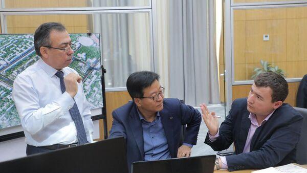Представители корейской компании Bomi Engineering & Construction Co Ltd - Sputnik Узбекистан
