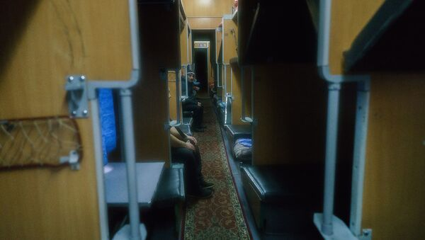 Пассажиры поезда Москва-Душанбе - Sputnik Узбекистан