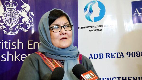 Дильбар Назарий -Министр по делам женщин Афганистана - Sputnik Ўзбекистон