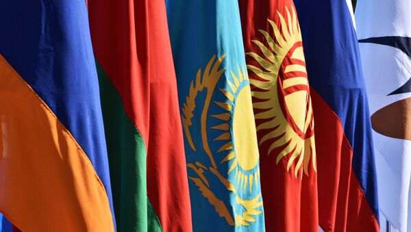 Yevroosiyo iqtisodiy ittifoqi bayrogʻi - Sputnik Oʻzbekiston