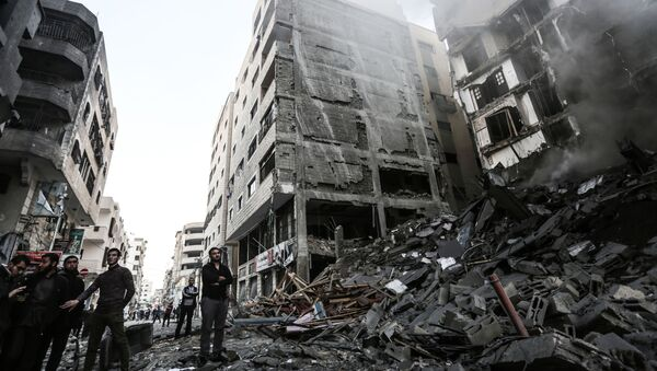Последствия воздушных ударов по сектору Газа. 13 ноября 2018 - Sputnik Ўзбекистон